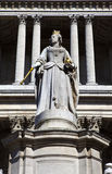 Queen Anne Statue infront of St. Paul's Cathedral Stock Images