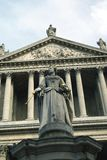 Queen Anne Statue, St Paul Cathedral, London, England, UK Royalty Free Stock Photo