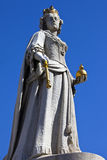 Queen Anne Statue at St. Paul's Cathedral in London Royalty Free Stock Photography