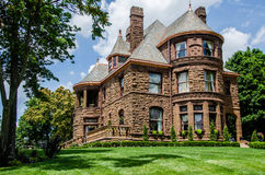Queen Anne Style home. Highly ornamental with Round and octagonal rooms. House has been many things from a old folks home to a insane asylum Royalty Free Stock Photo