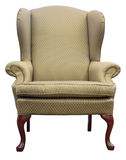 Queen Anne Wing Chair Stock Photos