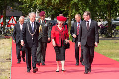 Queen Beatrix. The HAGUE, NETHERLANDS-JUNE 5: Queen Beatrix on her way to the opening of the yearly conference of the Dutch municipalities, accompanied by the Royalty Free Stock Photos