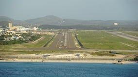 Queen Beatrix International Airport in Aruba. In the Caribbean Stock Image