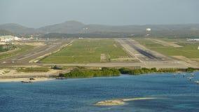 Queen Beatrix International Airport in Aruba. In the Caribbean Stock Photo