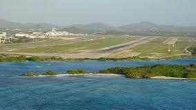 Queen Beatrix International Airport in Aruba. In the Caribbean Royalty Free Stock Photo