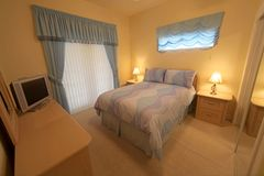 Queen Bedroom. A Bedroom with a Queen Bed, Interior Shot of a Home Stock Photography
