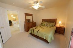 Queen Bedroom Royalty Free Stock Images