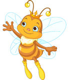 Queen bee showing. Illustration of a queen cute bee presenting Royalty Free Stock Images