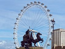 Queen Boudica and the London Eye Royalty Free Stock Photography