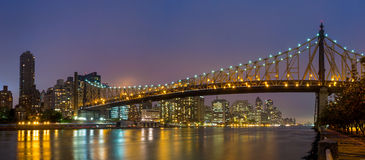 Queen Bridge, New York skyline Stock Images