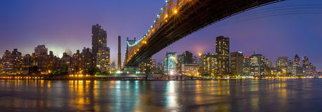 Queen Bridge, New York skyline Royalty Free Stock Photos