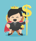 Queen of Business with silver symbol Royalty Free Stock Image