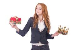 Queen businesswoman. In business concept Stock Image
