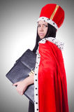 Queen businesswoman. In business concept Royalty Free Stock Photos