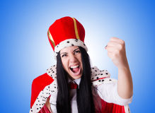 Queen businesswoman in business concept Stock Photos