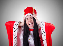 Queen businesswoman in business concept Royalty Free Stock Images