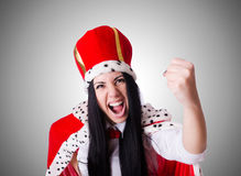 Queen businesswoman in business concept Stock Photo