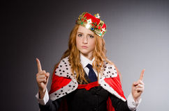 Queen businesswoman Royalty Free Stock Images