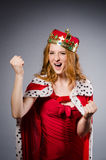 Queen businesswoman. In funny concept Royalty Free Stock Image