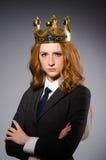 Queen businesswoman in funny Stock Photos
