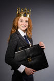 Queen businesswoman. In funny concept Royalty Free Stock Photos