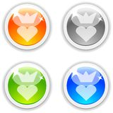 Queen buttons. Stock Photography