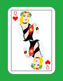 Queen of cards Royalty Free Stock Photo