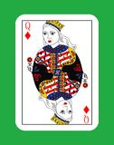 Queen of cards Stock Photography
