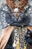 Queen of the carnival. Beautiful costume at the carnival in Venice