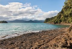 Free Queen Charlotte Sound In Marlborough Sounds, New Zealand Stock Photo - 115037650