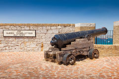 Queen Charlottes Battery on Gibraltar Stock Photography