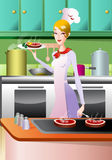Queen of chef Stock Image