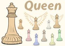 Queen chessman clipart Stock Photography