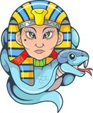 Queen Cleopatra and her cobra Stock Image