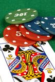 Queen of Clubs Royalty Free Stock Image