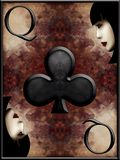 Queen of Clubs Stock Images