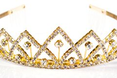 Queen crown. Isolate on white background Royalty Free Stock Photography