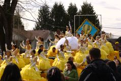 Queen of the Daffodil Parade Royalty Free Stock Images