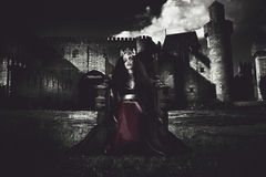 Queen of the dark monarch Royalty Free Stock Images