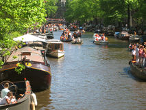 Queen day - Amsterdam Royalty Free Stock Images