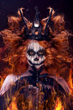 Queen of death. Scary body art to halloween Stock Photo