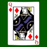Queen diamonds. Card suit icon , playing cards symbols. Set icon symbol suit, card suit icon sign, icon - stock Stock Images