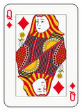 Queen of diamonds Stock Photos