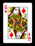 Queen of Diamonds playing card, Stock Photos