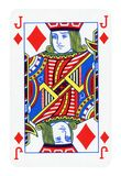 Queen of Diamonds playing card isolated on white stock illustration