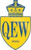 Queen Elisabeth Way In Ontario Royalty Free Stock Images