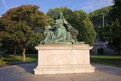 Queen Elizabeth Statue in Budapest Stock Photography