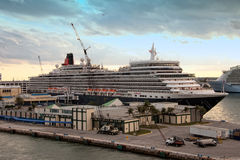 Queen Elizabeth Cruise Ship Stock Photography