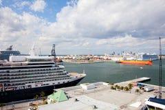 Queen Elizabeth Cruise Ship Stock Photo