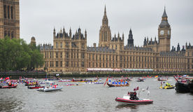 Queen Elizabeth Diamond Jubilee pageant Royalty Free Stock Images